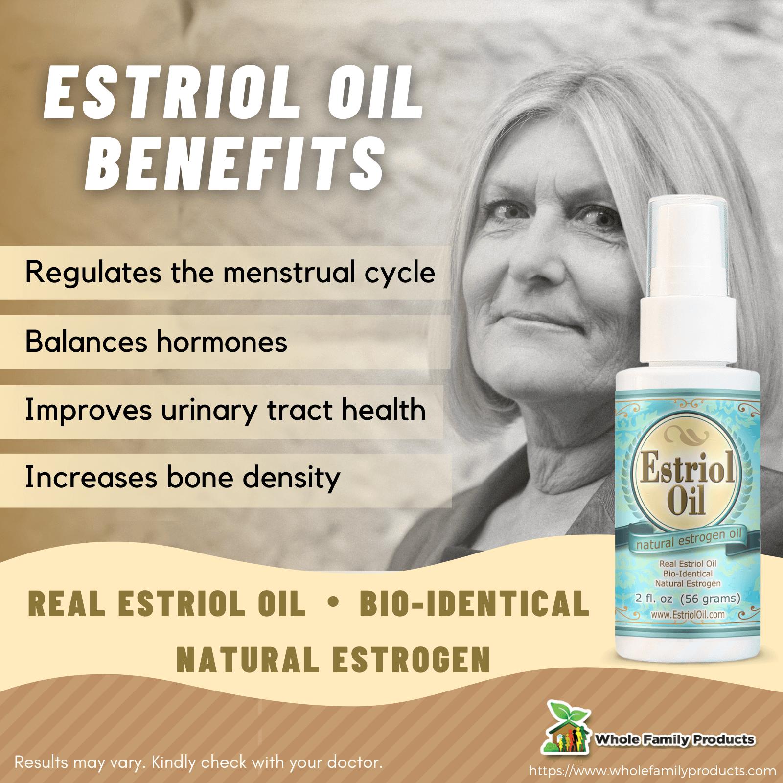 Estriol Oil Benefits WFP Infographics