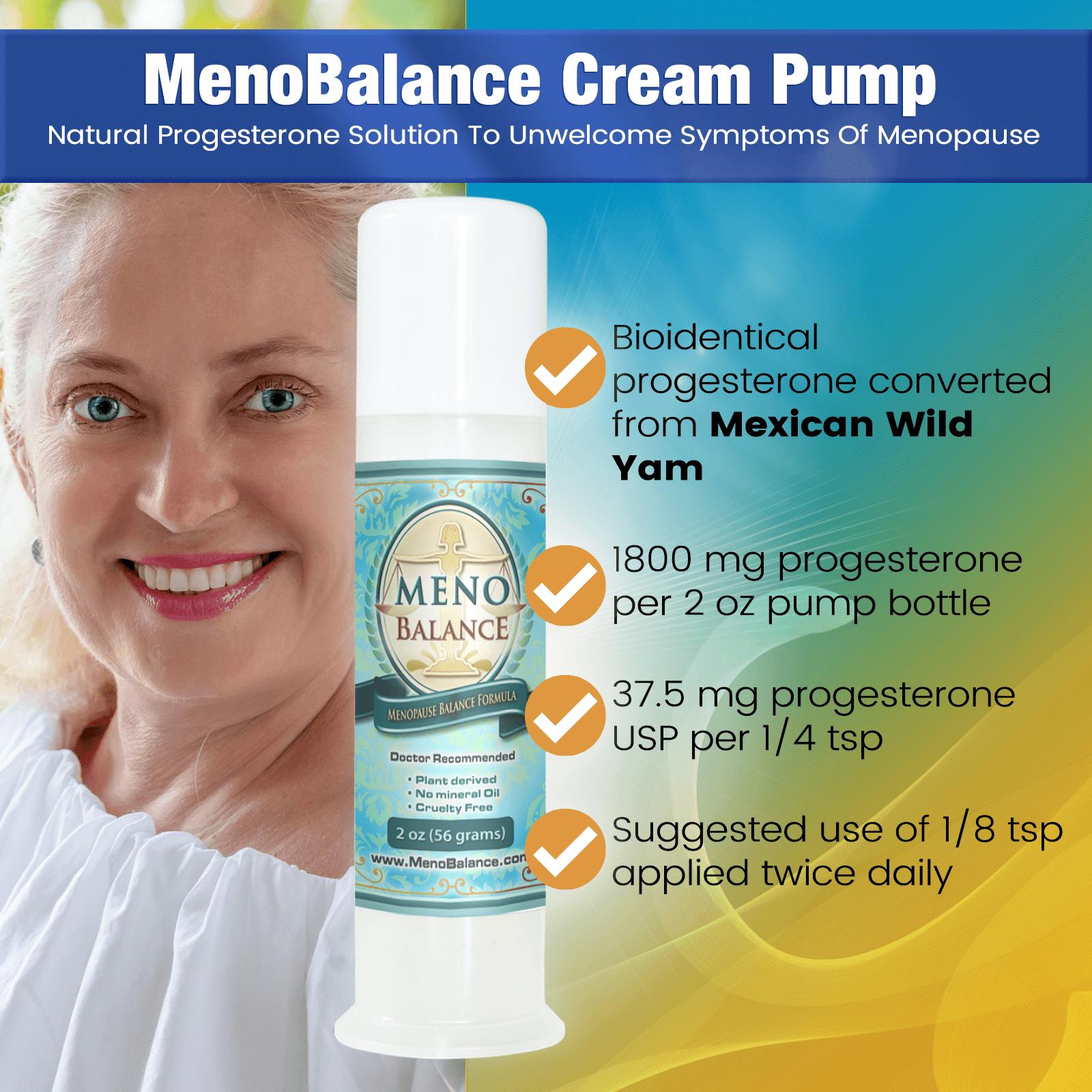 Menobalance Best Progesterone Cream for Menopause WFP Infographic